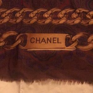 CHANEL vintage oversized silk/cashmere scarf 52""